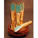 SUGAL - CUSTOM - KWIIs BULLET (Kirk Whalum) COPPER GOLD/SILVER Saksofon tenorowy -ustnik metal